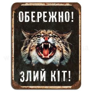 Обережно злий кіт