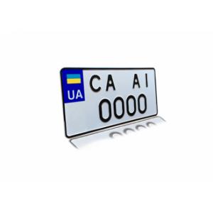 Номери  для автомобілів американського або японського виробництва. (стандарт з 2015 г.)