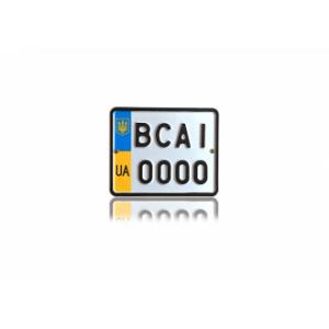 Номери для мопедів та моторолерів з об'ємом двигуна, що не перевищує 50 куб.см. (стандарт з 2004 року.)