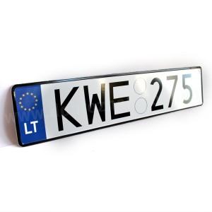 Литовський номерний знак