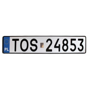 Сувенирный польский номерной знак